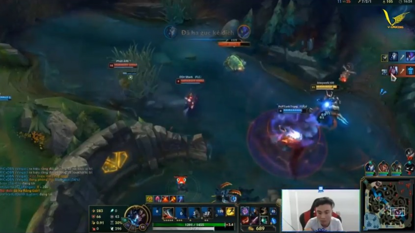 Rengar trong tay ThrowThi one hit one kill